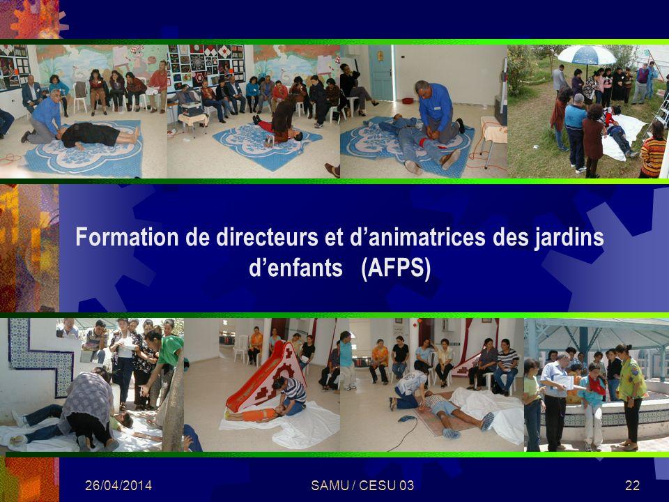 Formation de directeurs et d'animatrices des jardins d'enfants (AFPS)