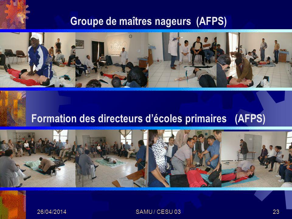 Groupe de maîtres nageurs (AFPS)