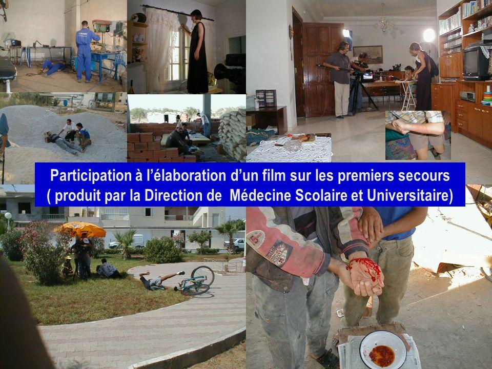 Participation à l'élaboration d'un film sur les premiers secours