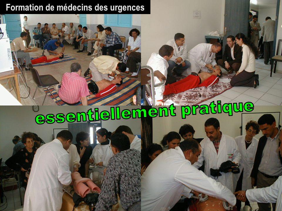 Formation de médecins des urgences essentiellement pratique
