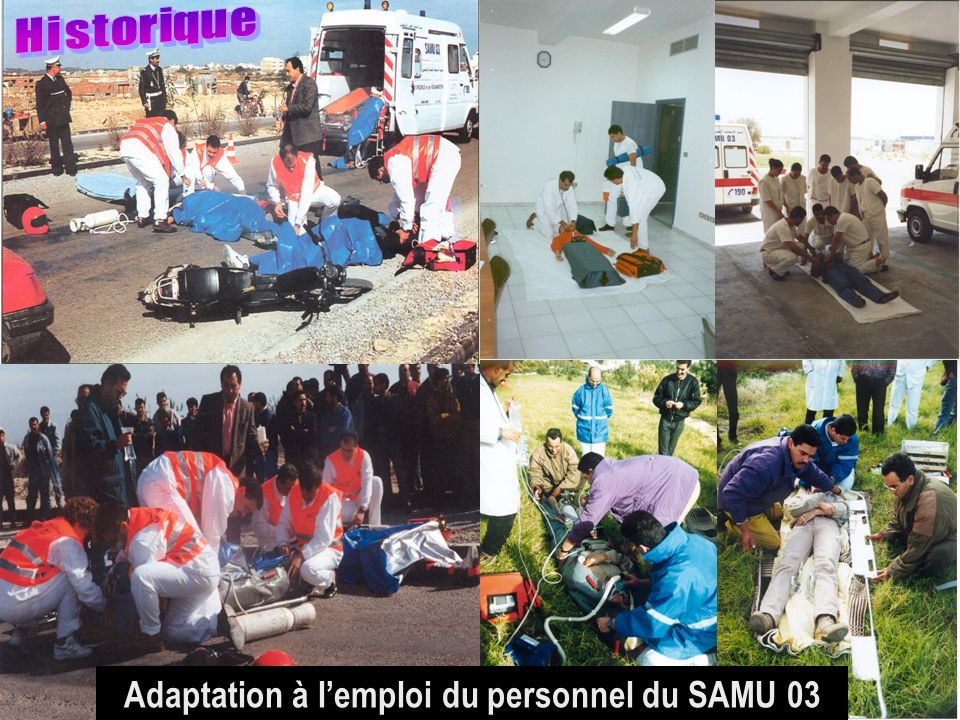 Adaptation à l'emploi du personnel du SAMU 03