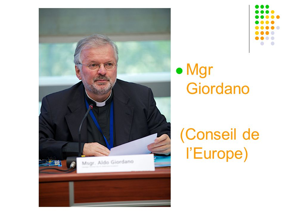 Mgr Giordano (Conseil de l'Europe)