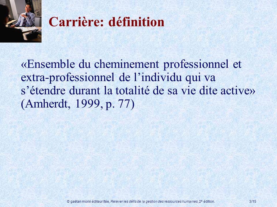 Carrière: définition