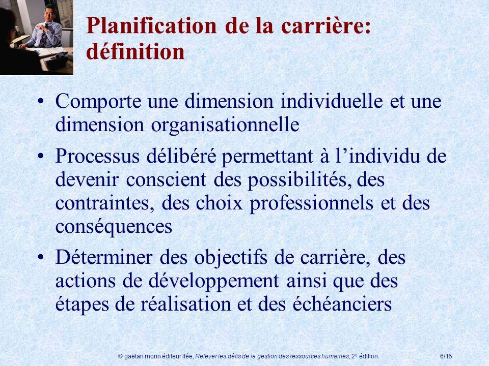 Planification de la carrière: définition