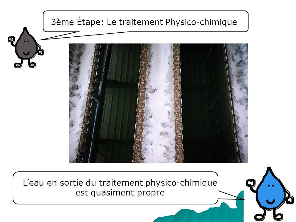 L'eau en sortie du traitement physico-chimique est quasiment propre