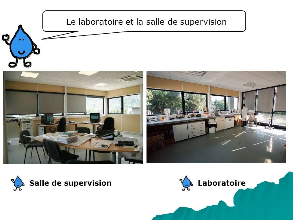Le laboratoire et la salle de supervision