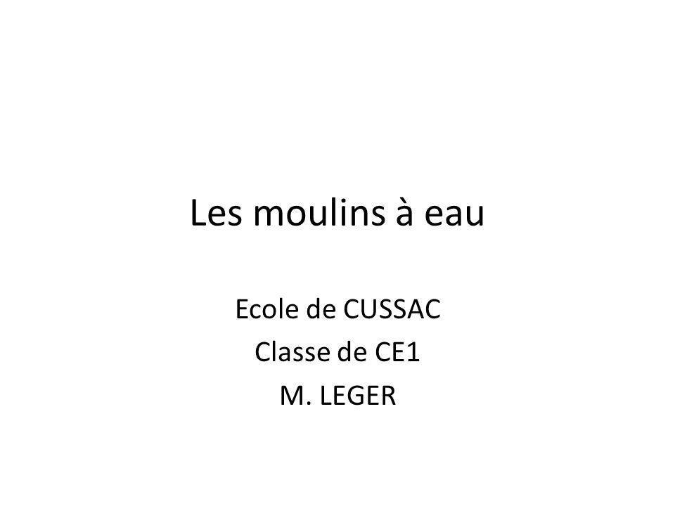 Ecole de CUSSAC Classe de CE1 M. LEGER
