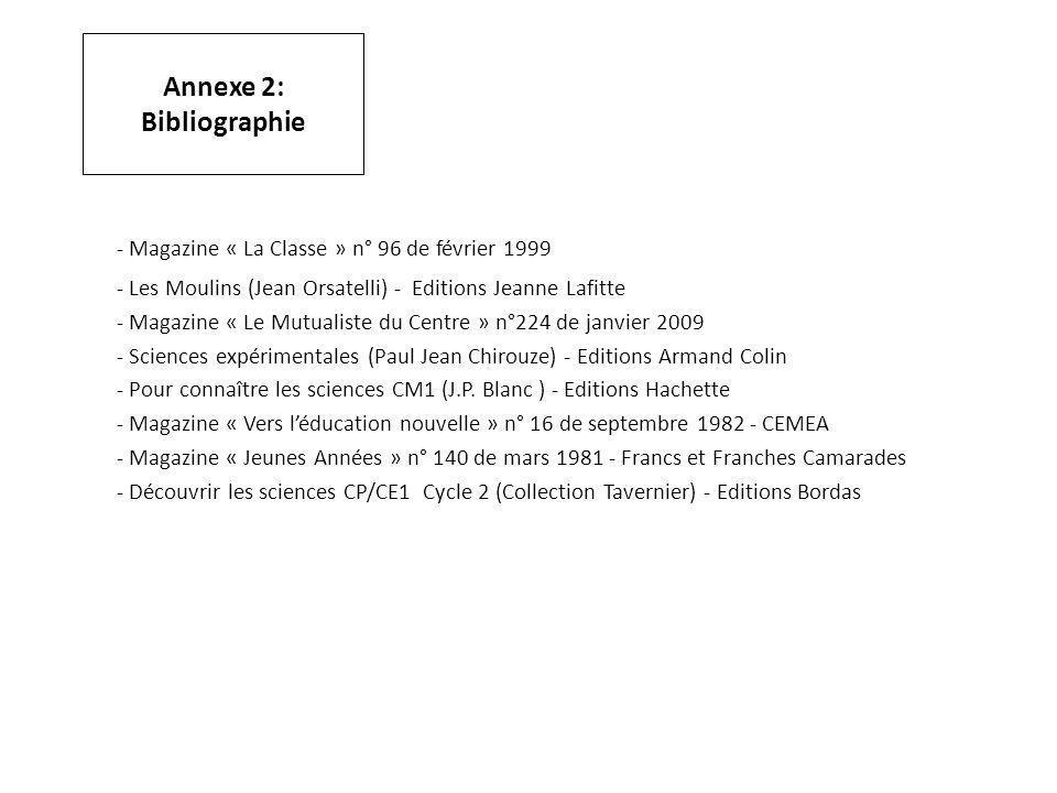 Annexe 2: Bibliographie
