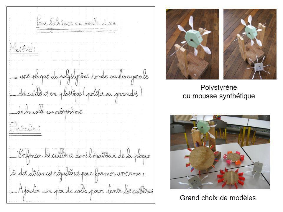 Polystyrène ou mousse synthétique Grand choix de modèles