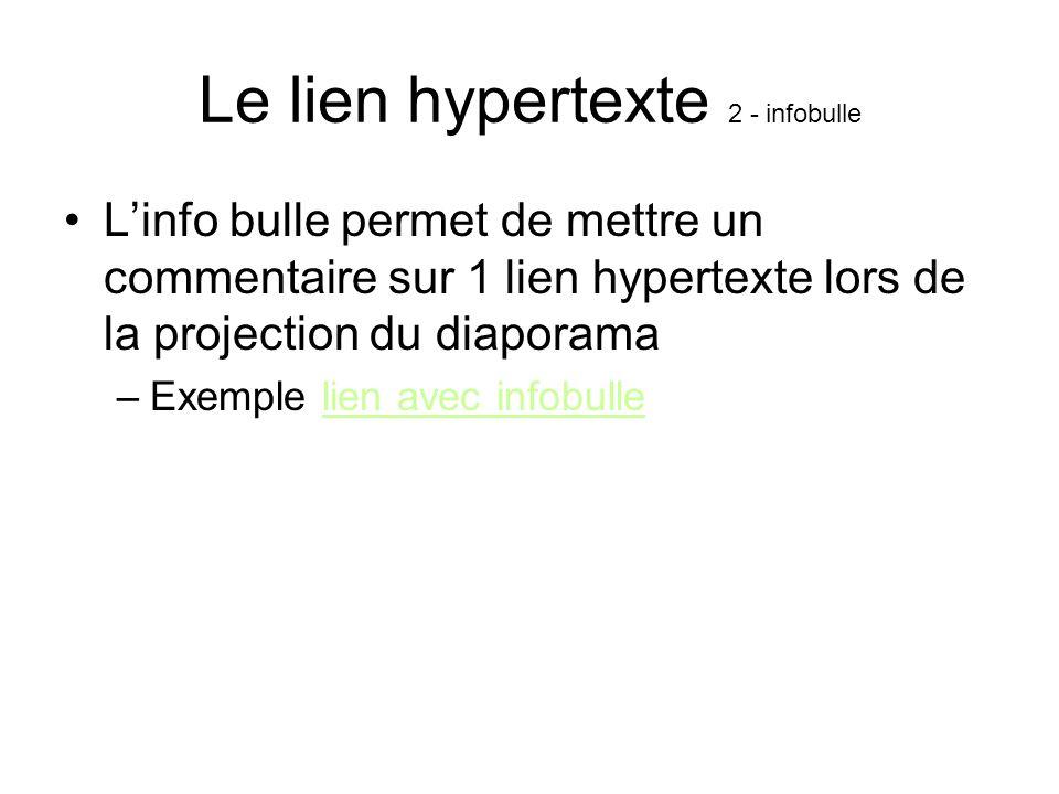 Le lien hypertexte 2 - infobulle