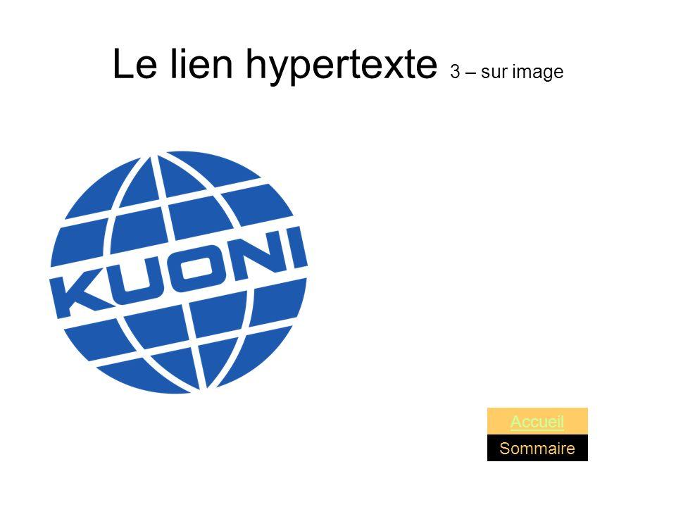 Le lien hypertexte 3 – sur image