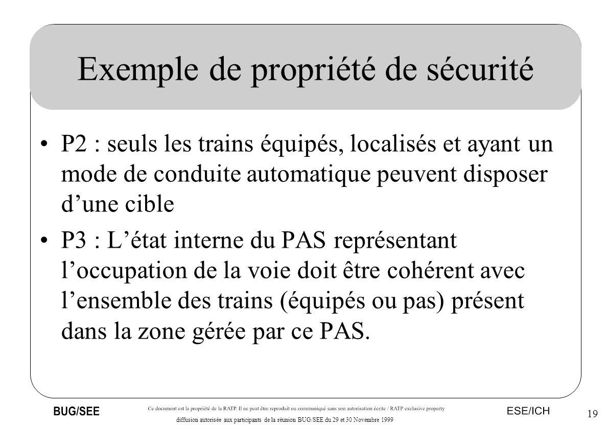 Exemple de propriété de sécurité