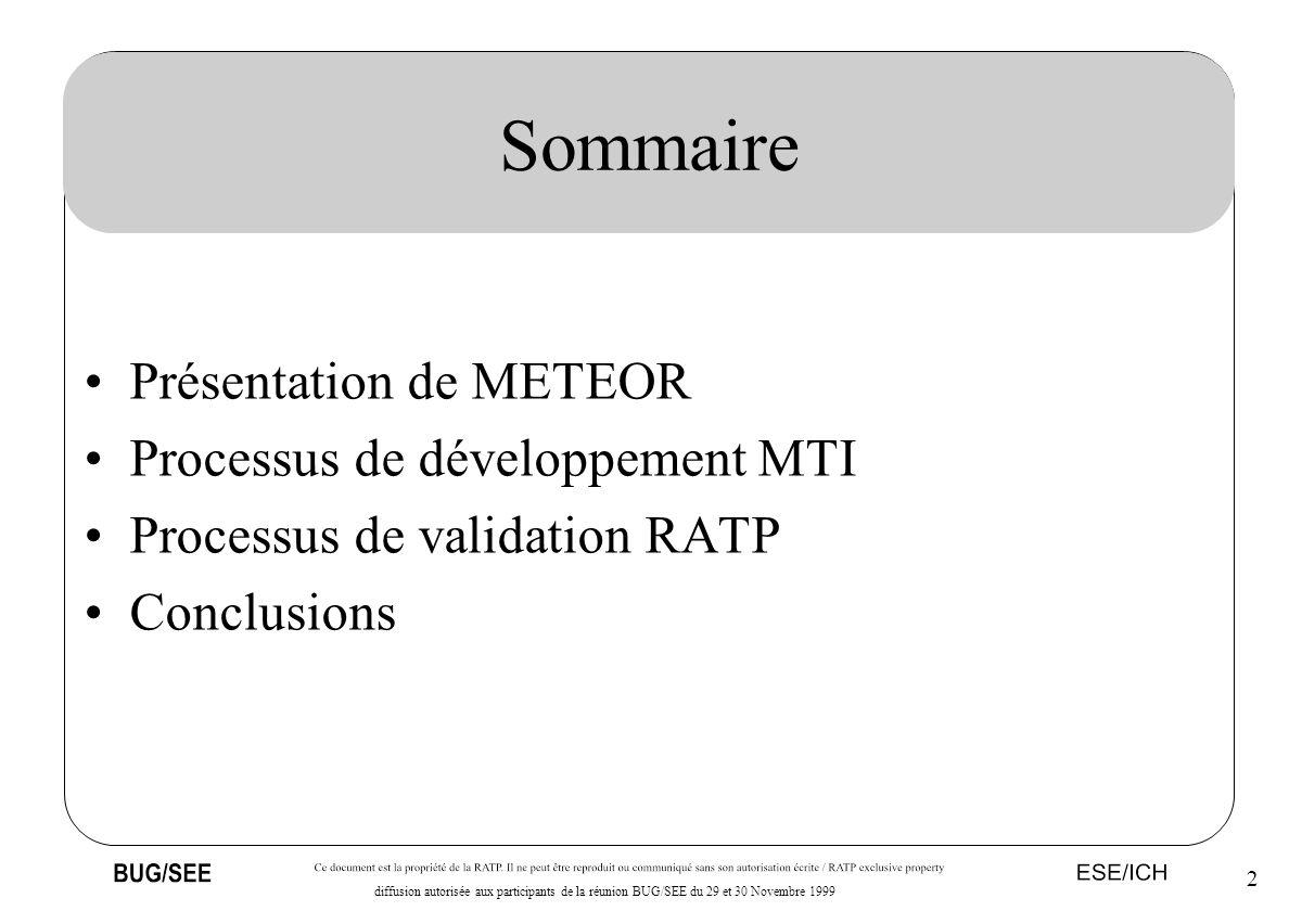 Sommaire Présentation de METEOR Processus de développement MTI