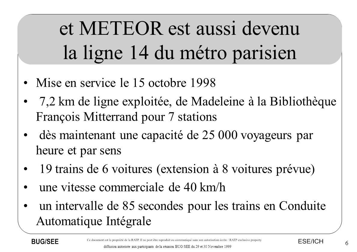 et METEOR est aussi devenu la ligne 14 du métro parisien