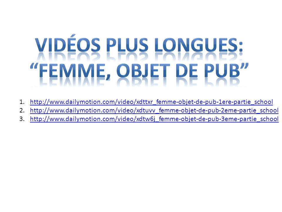 Vidéos plus longues: Femme, Objet de pub