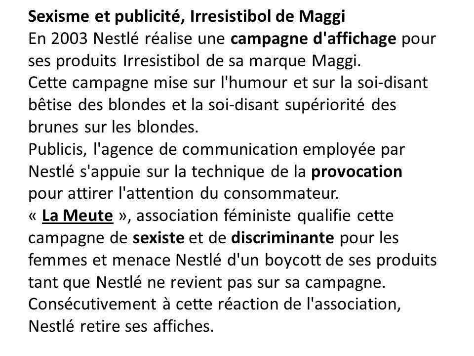 Sexisme et publicité, Irresistibol de Maggi