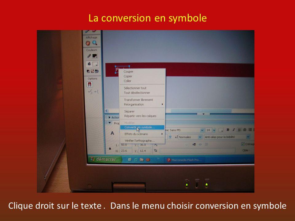 La conversion en symbole