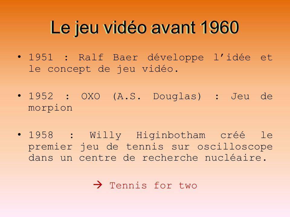 Le jeu vidéo avant 1960 Le jeu vidéo avant 1960