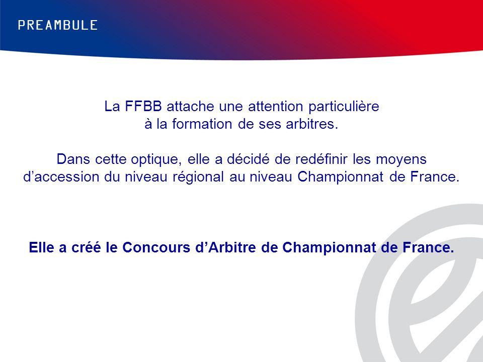 Elle a créé le Concours d'Arbitre de Championnat de France.