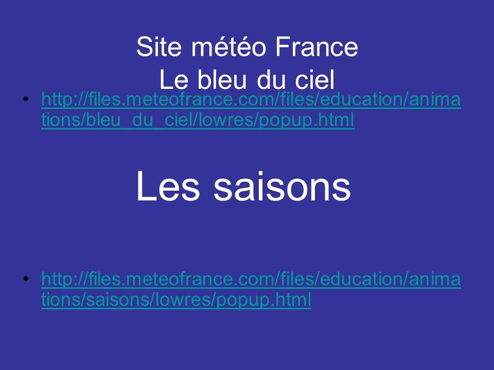 Site météo France Le bleu du ciel