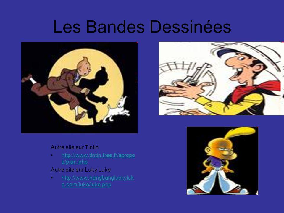 Les Bandes Dessinées Autre site sur Tintin