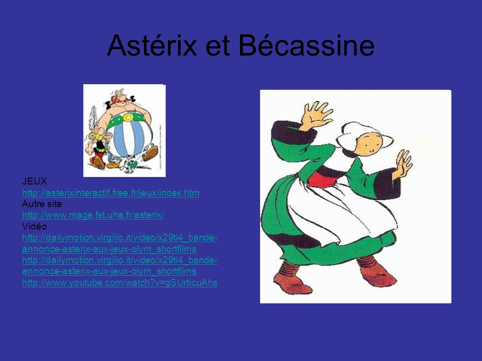Astérix et Bécassine JEUX