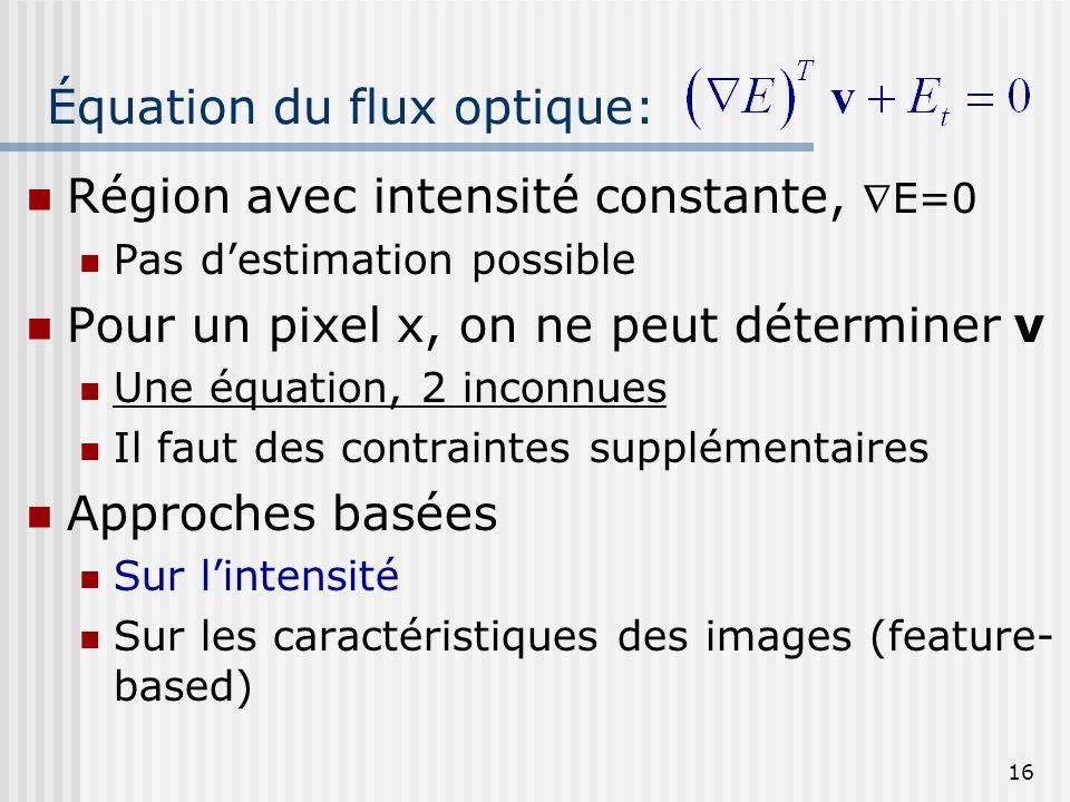 Équation du flux optique: