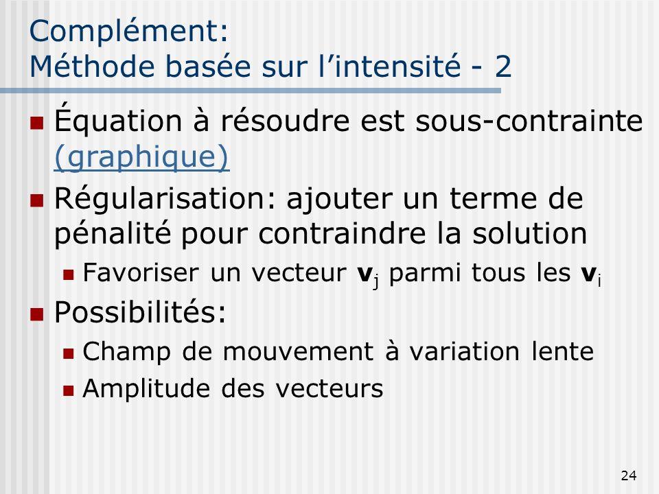 Complément: Méthode basée sur l'intensité - 2