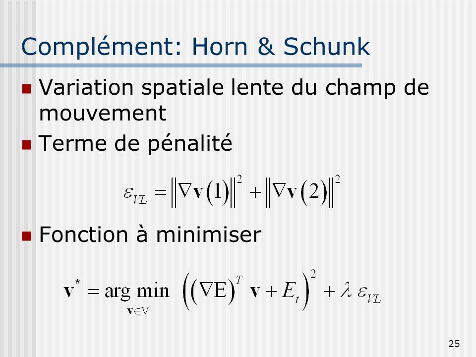 Complément: Horn & Schunk