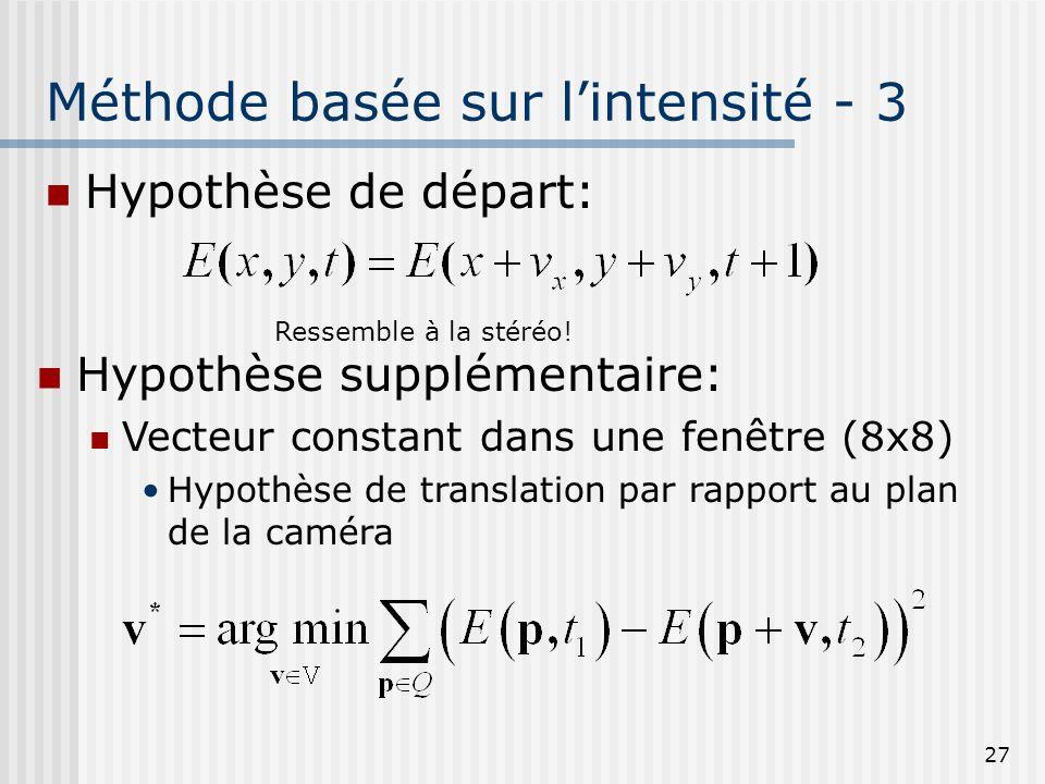 Méthode basée sur l'intensité - 3