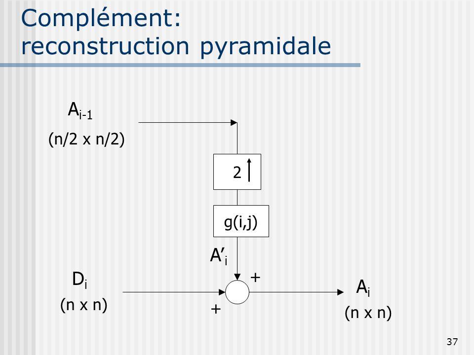 Complément: reconstruction pyramidale
