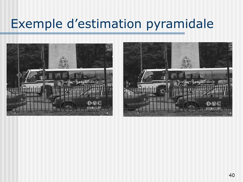 Exemple d'estimation pyramidale