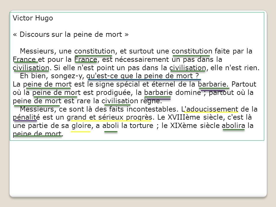Victor Hugo « Discours sur la peine de mort »