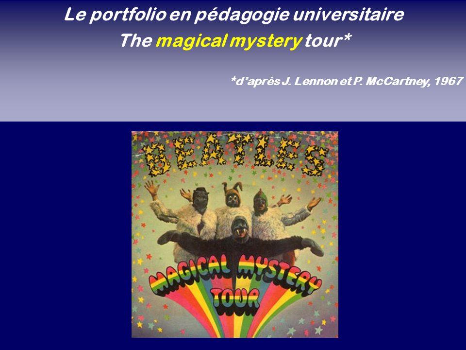 Le portfolio en pédagogie universitaire The magical mystery tour*