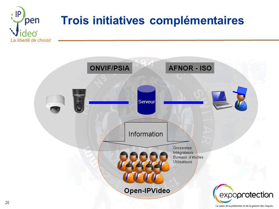 Trois initiatives complémentaires