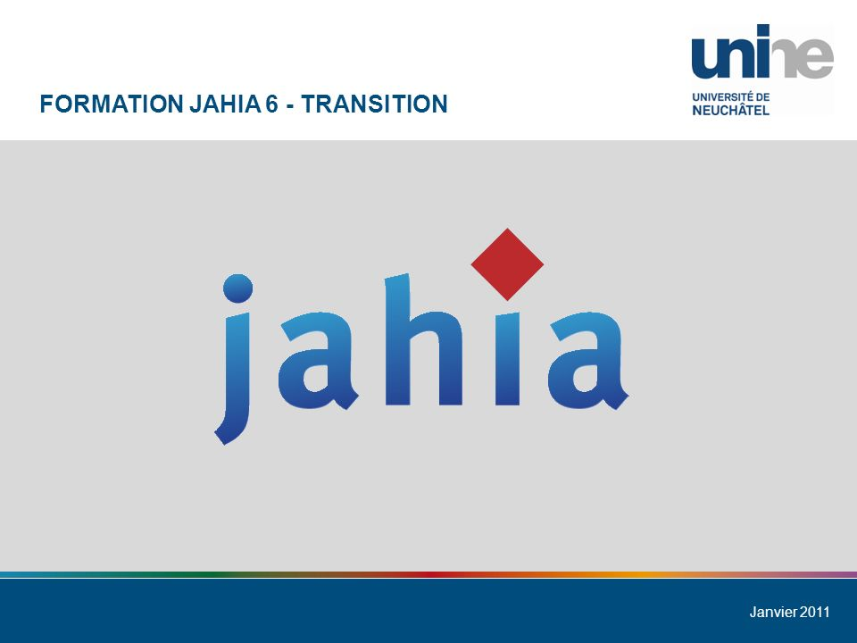Formation Jahia 6 - Transition