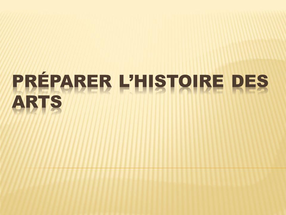 Préparer l'histoire des arts