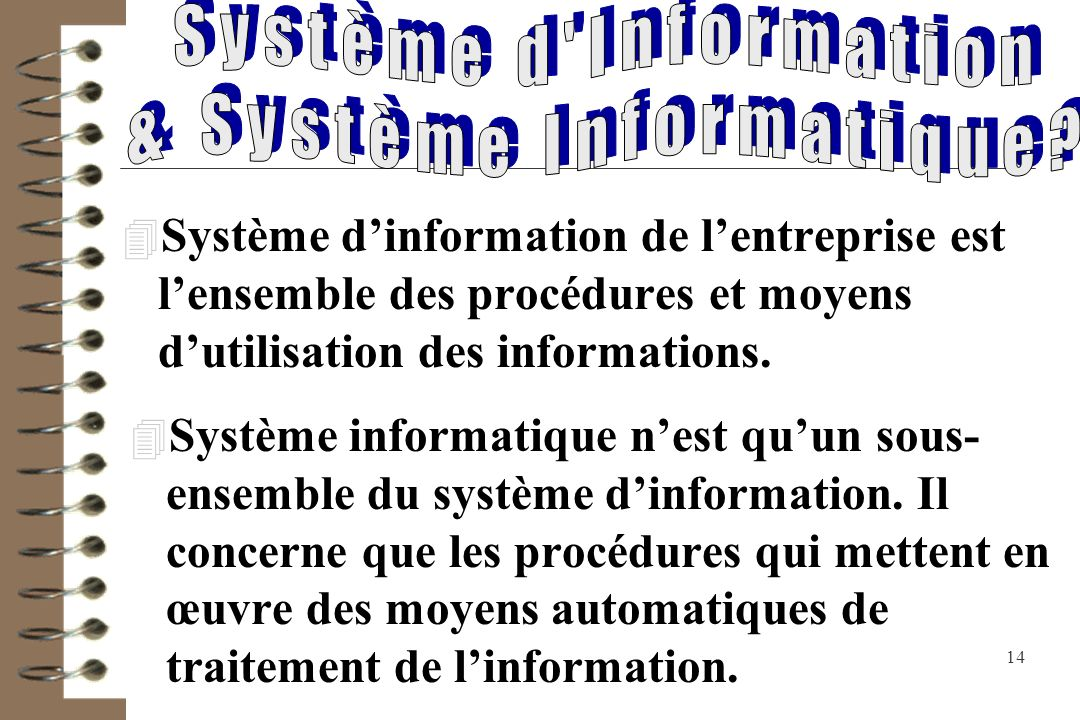 & Système Informatique