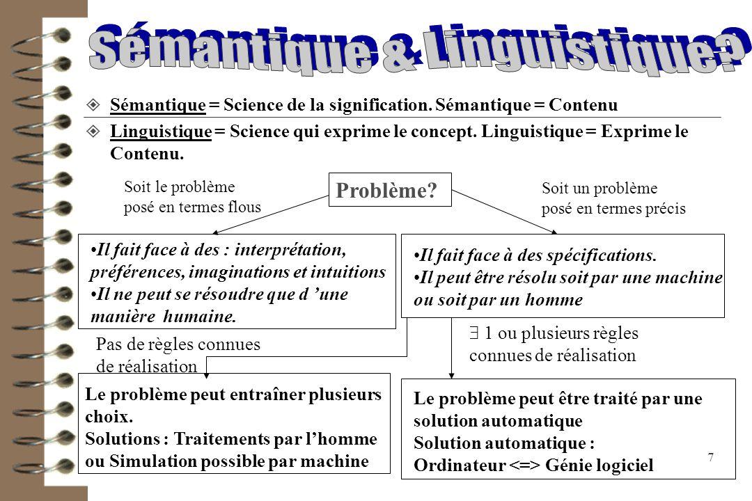 Sémantique & Linguistique