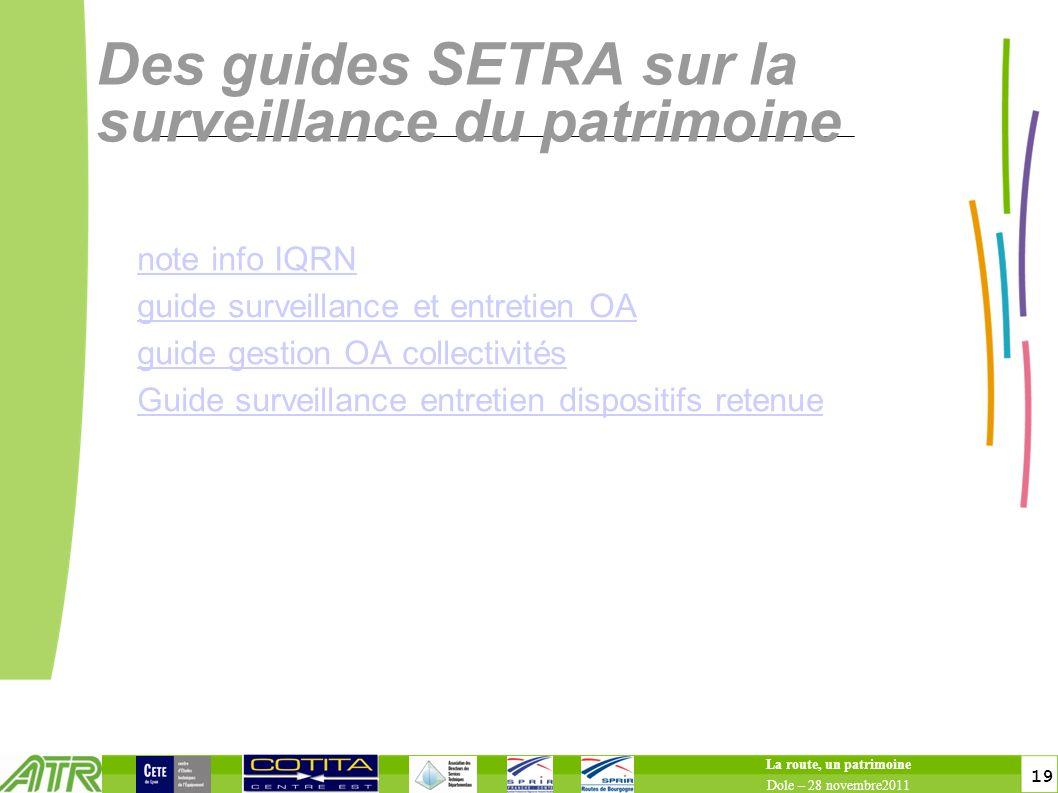 Des guides SETRA sur la surveillance du patrimoine