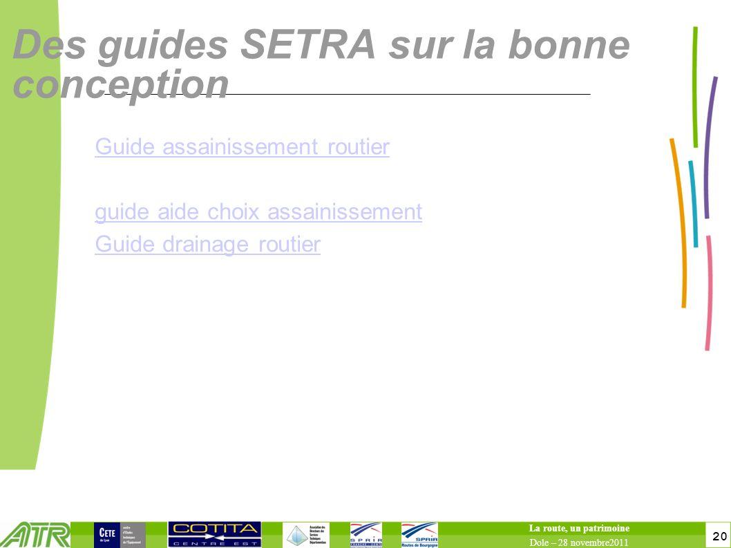 Des guides SETRA sur la bonne conception