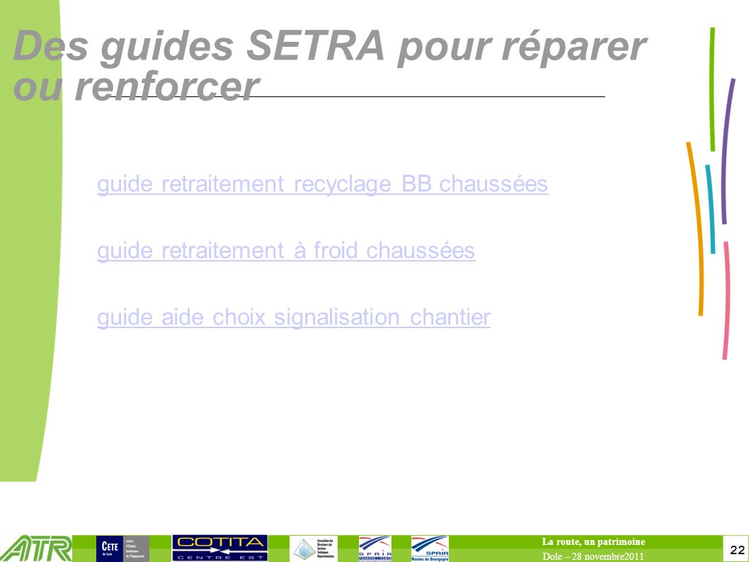 Des guides SETRA pour réparer ou renforcer