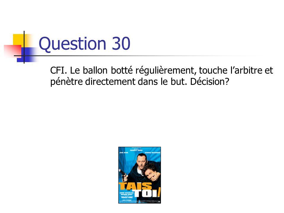 Question 30 CFI.