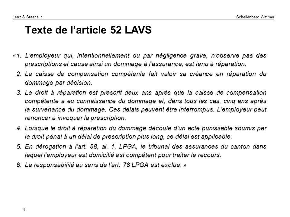 Texte de l'article 52 LAVS