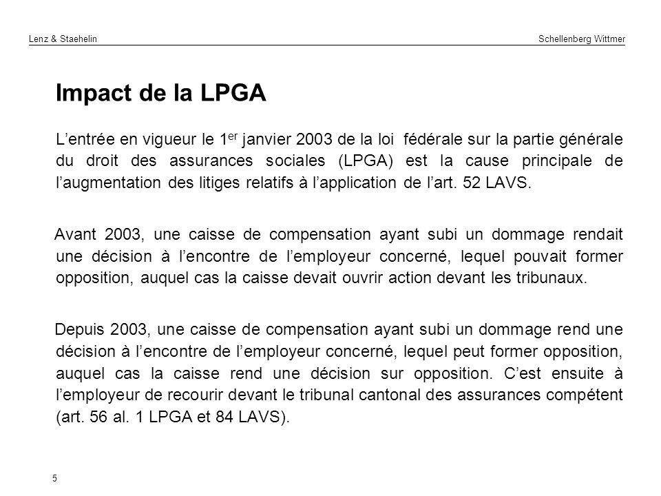 Impact de la LPGA