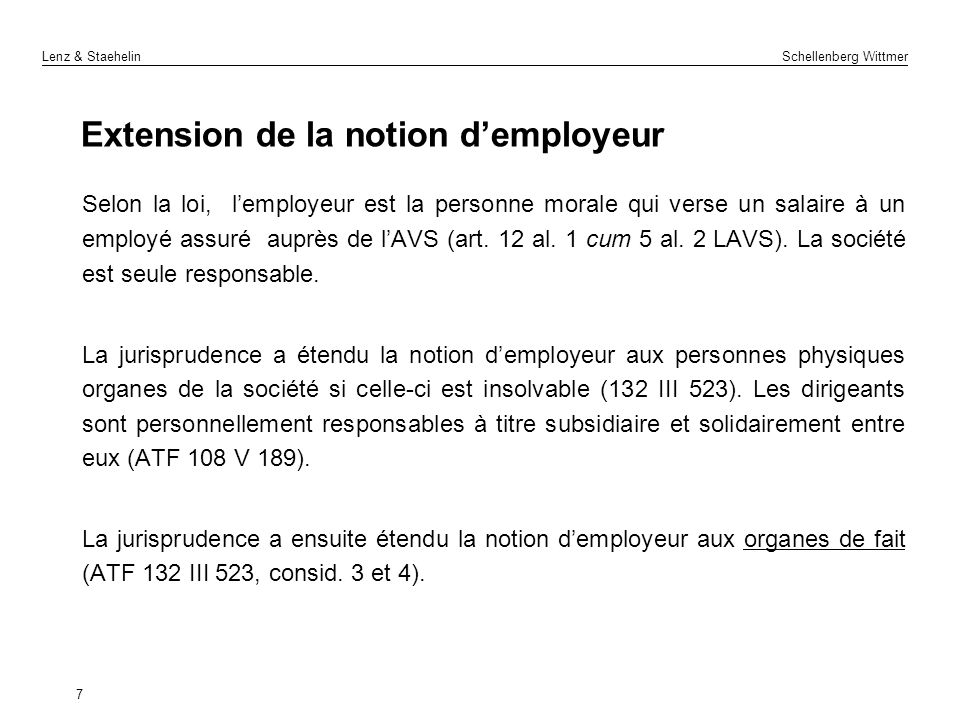 Extension de la notion d'employeur