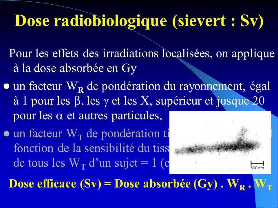 Dose radiobiologique (sievert : Sv)