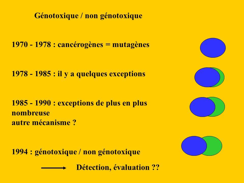Génotoxique / non génotoxique