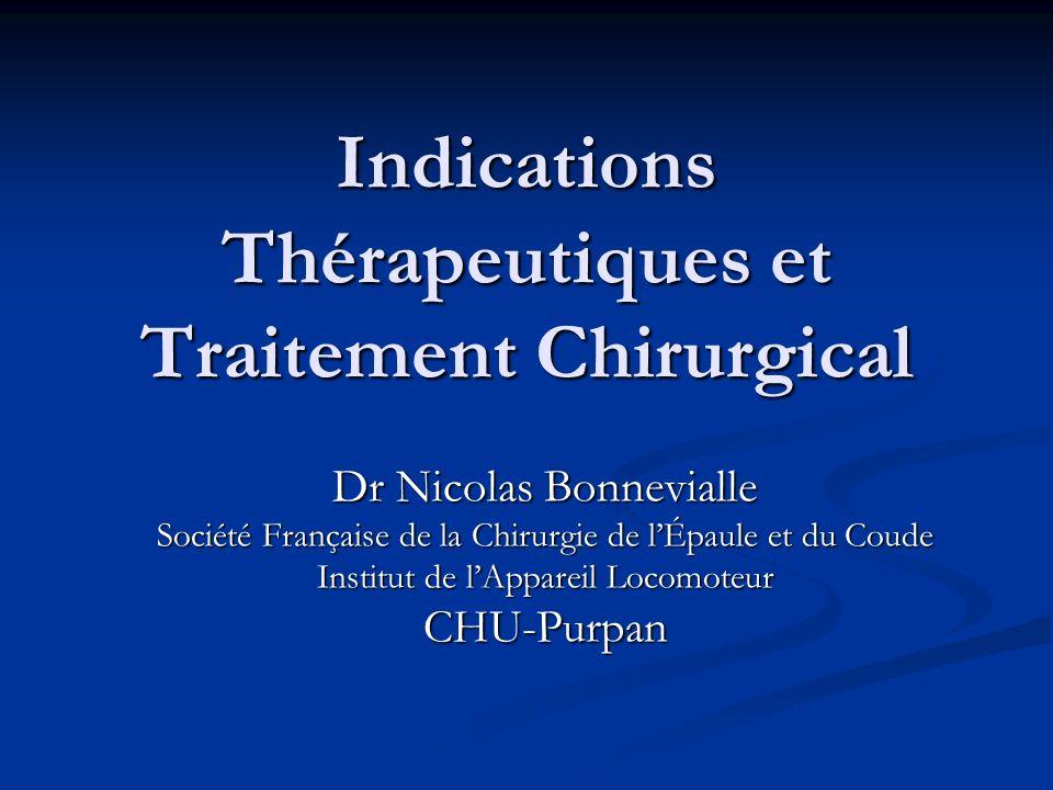Indications Thérapeutiques et Traitement Chirurgical