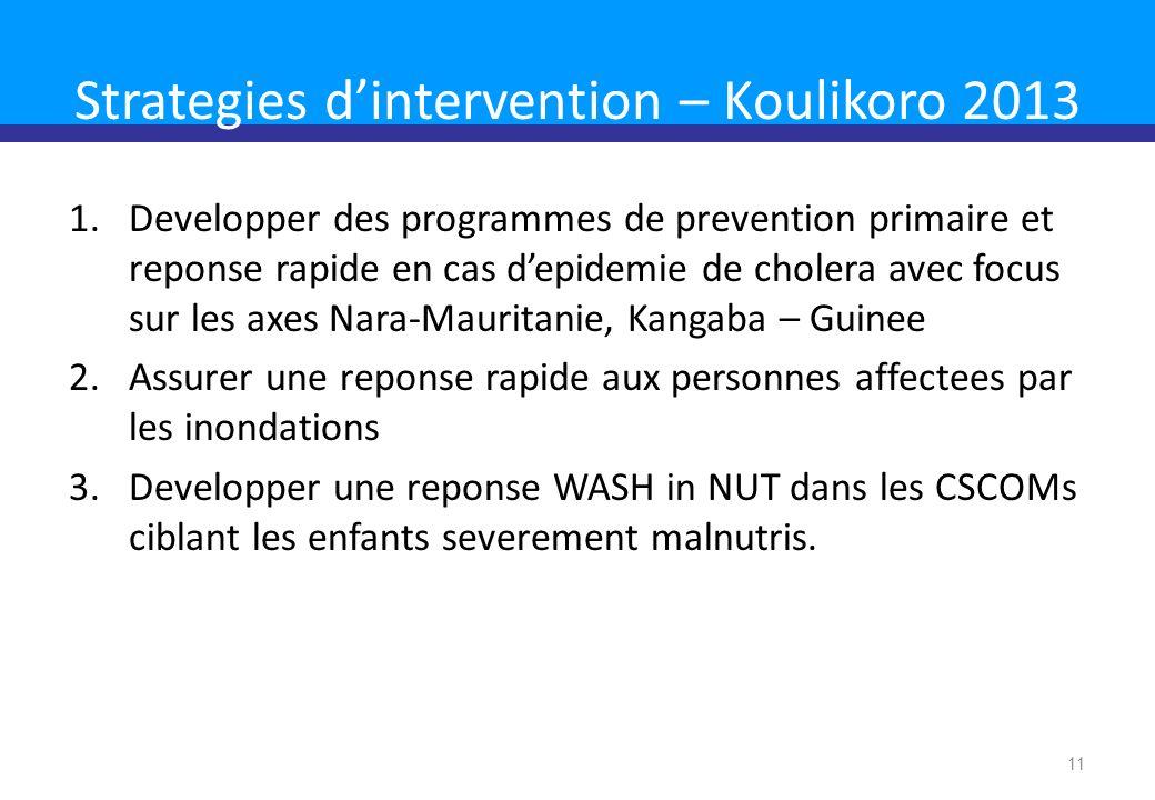 Strategies d'intervention – Koulikoro 2013